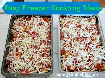freezer meals, lasagna