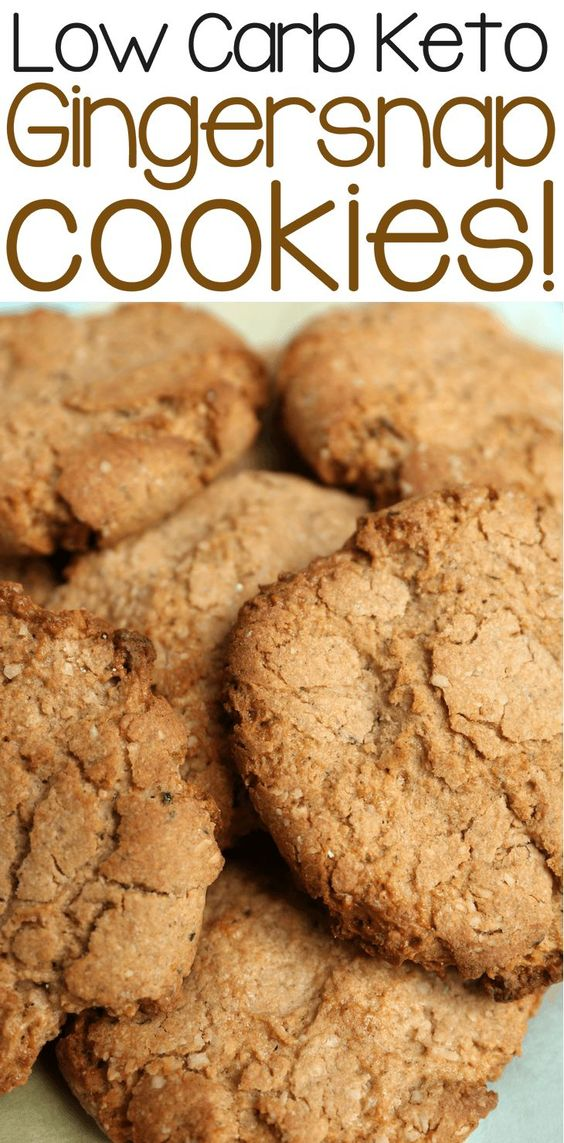 Low Carb Keto Ginger Snap Cookies Recipe