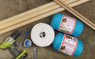 materiales necesarios para hacer hamacas de macrame