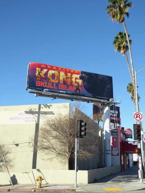 Kong Skull Island movie billboard