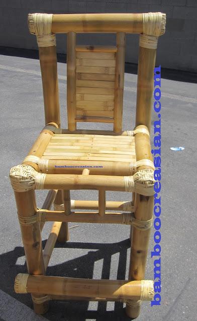 3 Piece Bamboo Patio Tiki Bar Stool Set Creasian S Bamboo