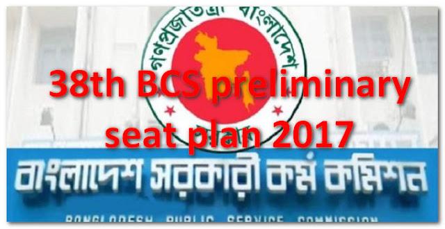 38th BCS preliminary seat plan & result 2017 bpsc.gov.bd 1