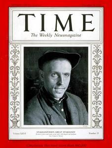 """Alekséi Stajánov en la portada de """"Time Magazine"""""""