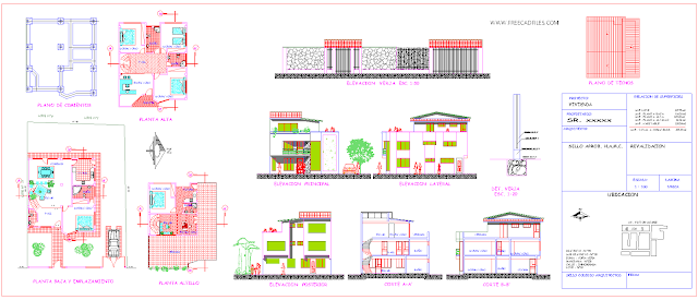 Small chalet DWG