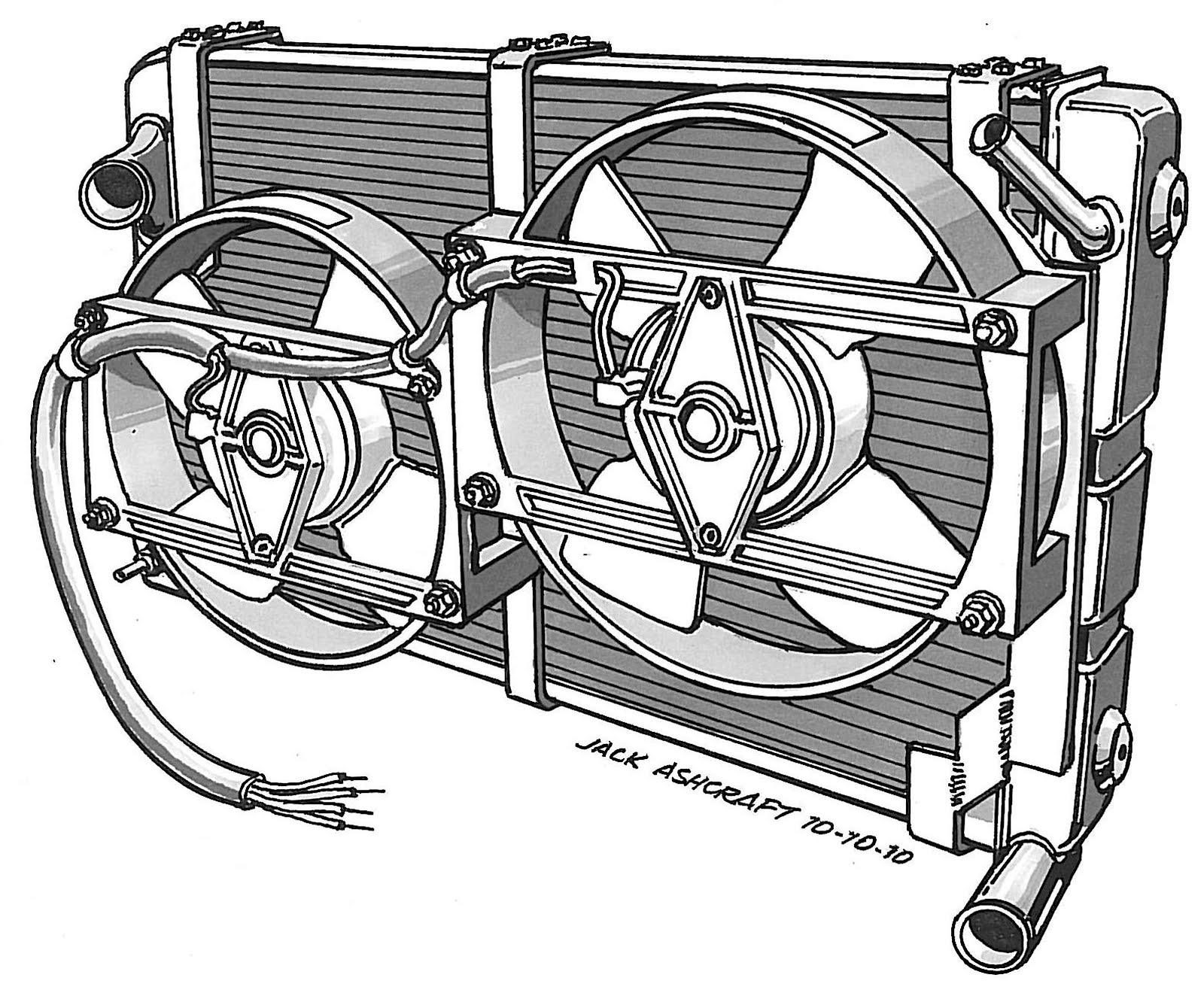 saab cooling system diagram on vdo sdometer wiring diagram [ 1600 x 1328 Pixel ]