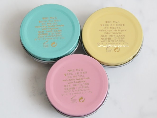 Etude House Hello Kitty solid perfumes tins