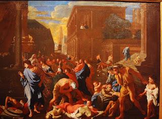 Nicolas Poussin, les Philistins frappés par la peste, 1631