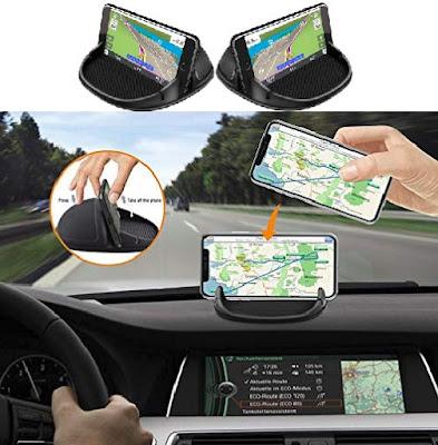 Loncaster Smartphone Holders: Car Dashboard GPS Navigator Phone Mount