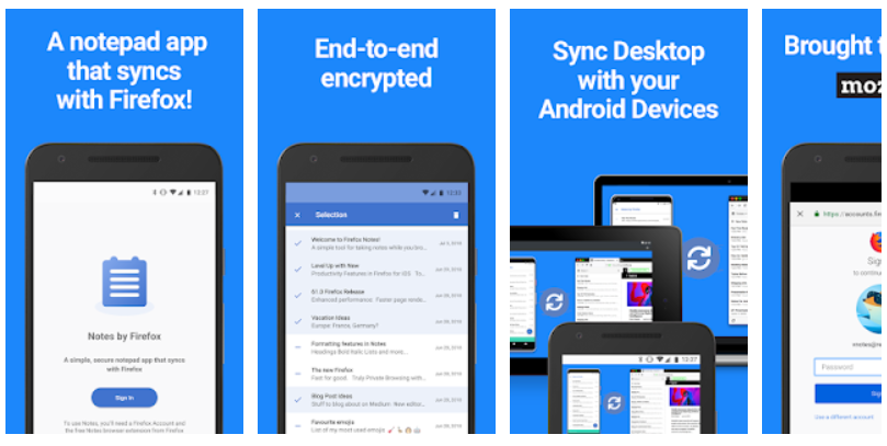 Notes by Firefox: A Secure Notepad Mobile App - Youth Apps - Best