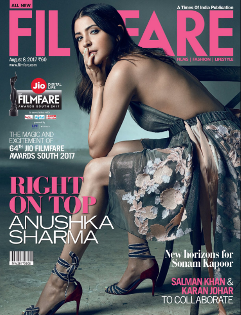 Anushka Sharma Sexy Scans From Filmfare August 2017