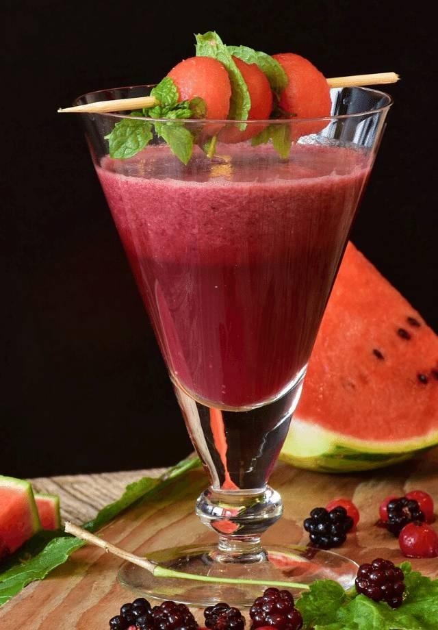 receita de coquetel melancia e amoras