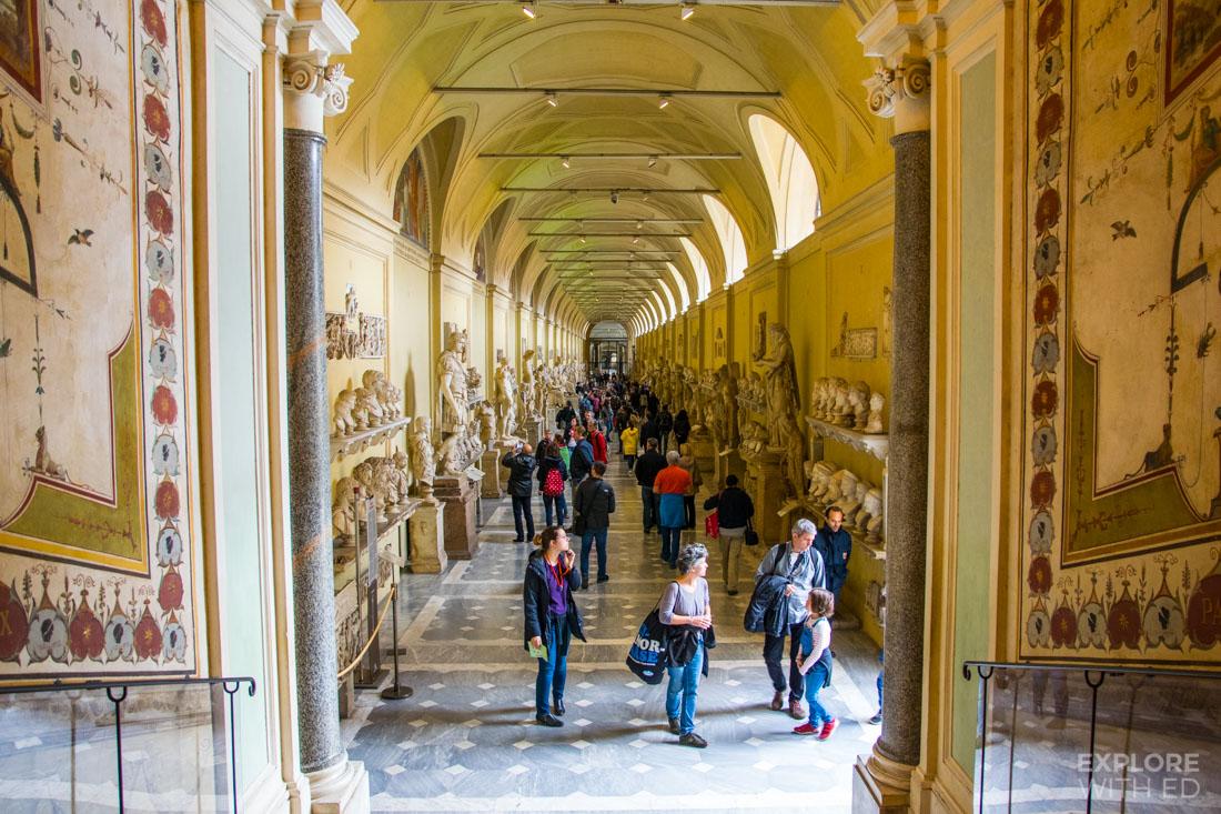 Sculptures inside Vatican Museum