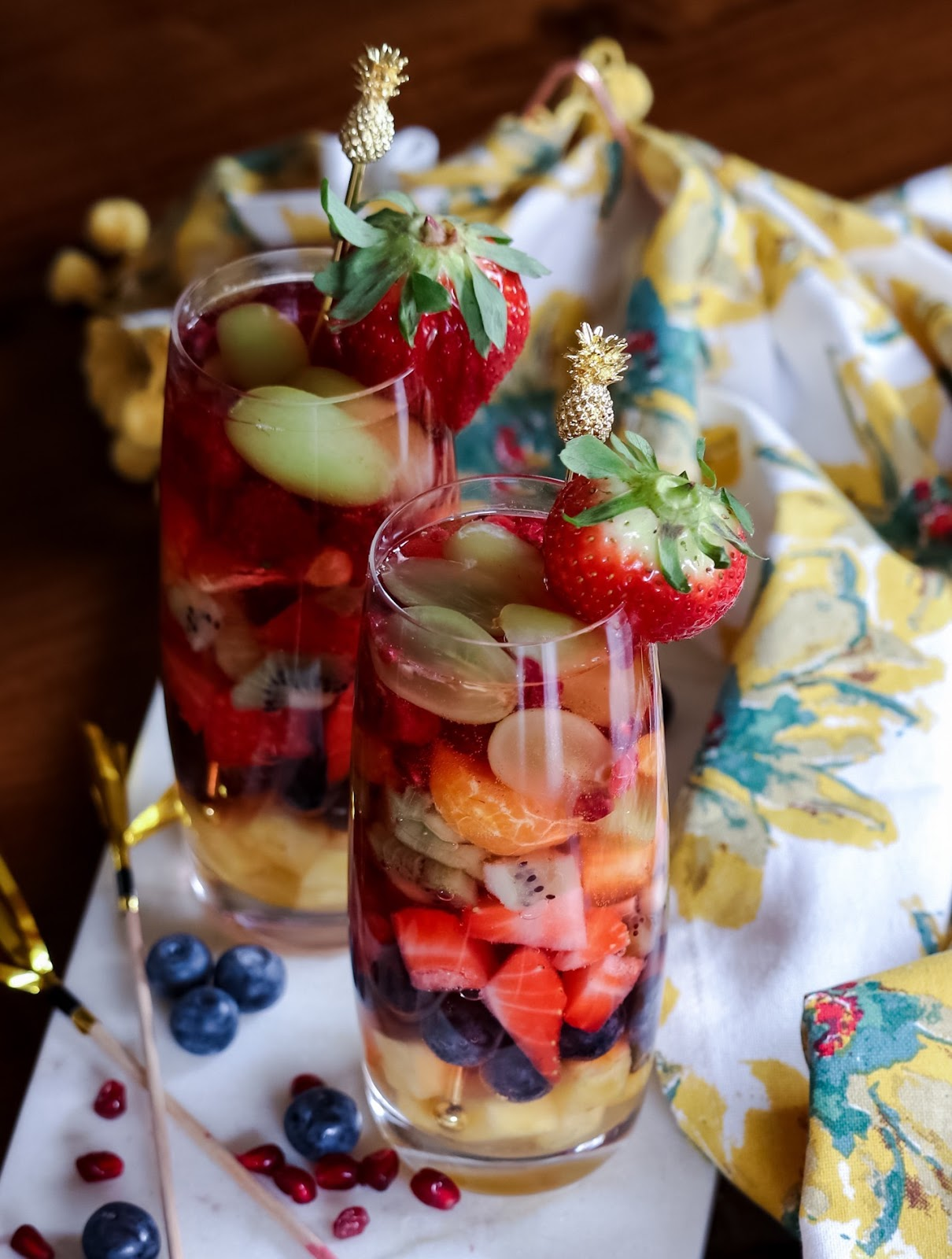 rainbow sangria, holi festival drink recipe, fruit drink, wine cocktail, summer cooler, colorful, happy, memorial day drink , myriad musings