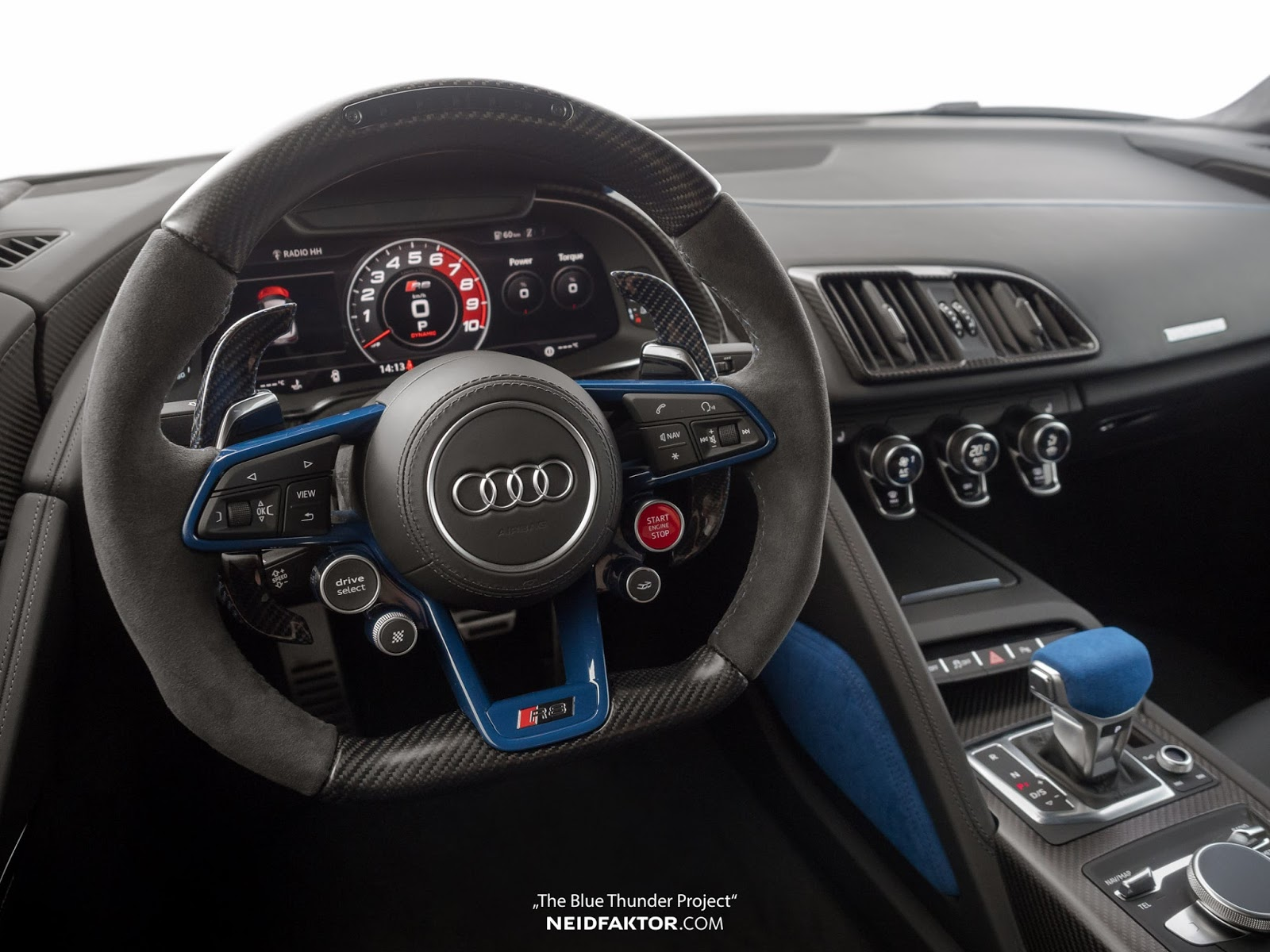 Amazing Neidfaktor Pimps Out Audi R8 V10 Plus With Blue U0026 Black Interior | Carscoops