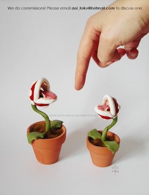 piranha plant sculpture