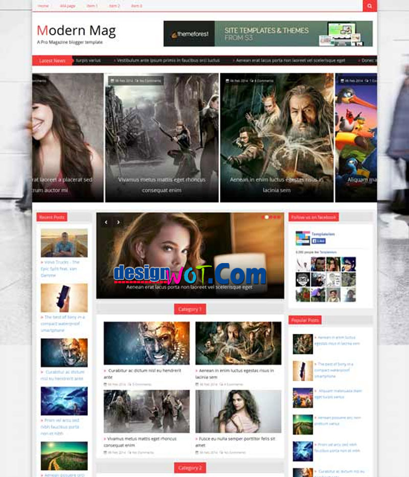 MODERN MAG - Creative Responsive Magazine Blogger Template