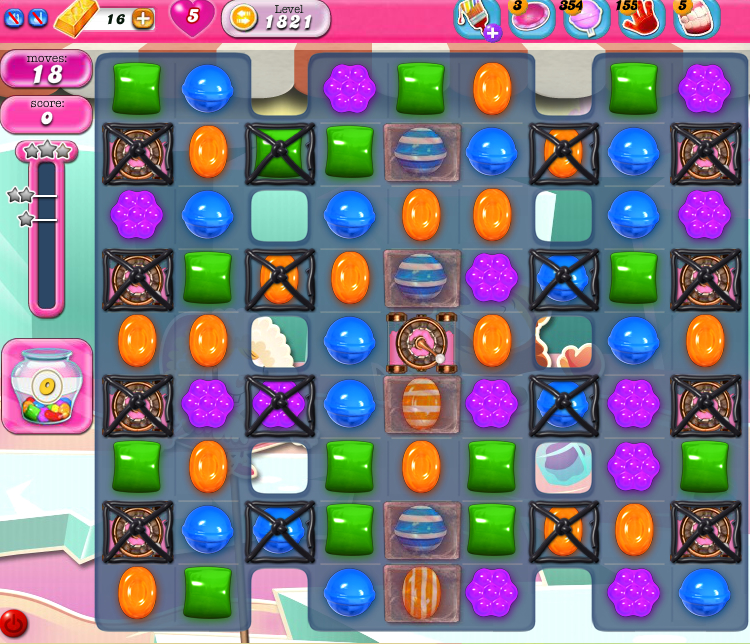 Candy Crush Saga 1821