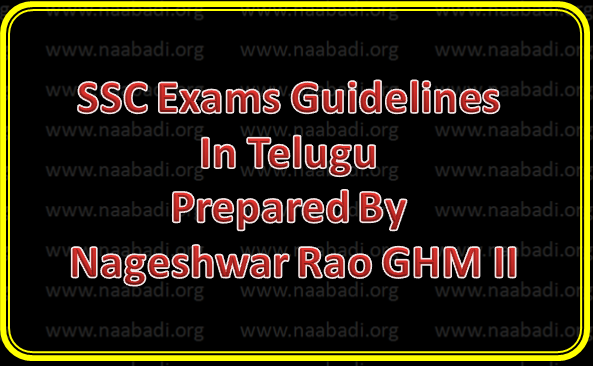 SSC Exams Guidelines In Telugu Prepared By Nageshwar Rao GHM II