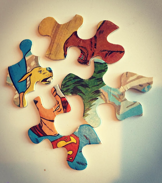 Whitman Superboy puzzle pieces