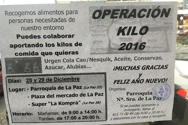 Cartel anunciador de la Operación Kilo 2016