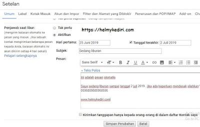 Balas email otomatis