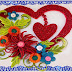 Heart With Flower Design Greeting Card   Paper Quilling Art