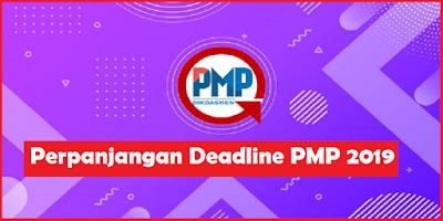 Perpanjangan Deadline Pengiriman PMP 2019
