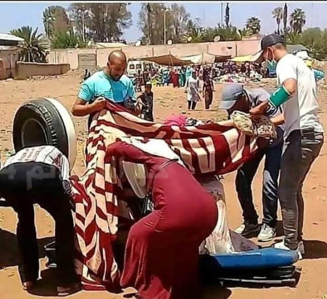 خبر اليوم  رائع.. امرأة تضع مولودها بنت في السوق الاسبوعي  بمدينة بئر جديد