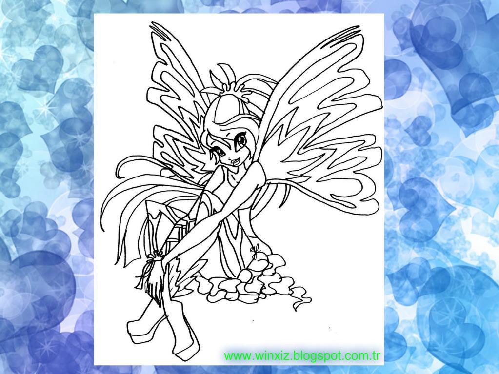 Winx şenliği Bloom Sirenix Boyama