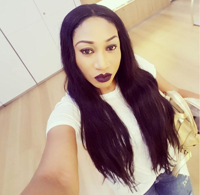 Lol. Oge Okoye says her arm is as long as a selfie stick