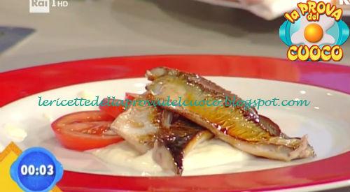 Sgombro caramellato con salsa di provolone e pomodori ricetta Piparo da Prova del Cuoco