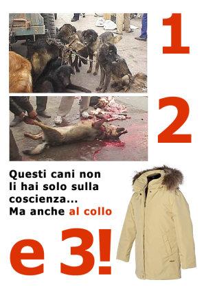 cappotti peli di cane uccisi