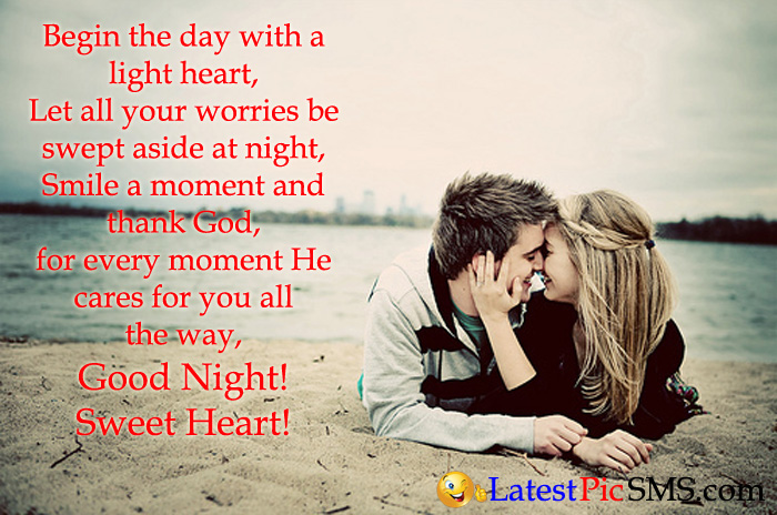 Good Night Love Messages With Photos Latest Picture Sms