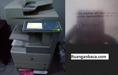 Fotocopy canon ir4570 Error E000716