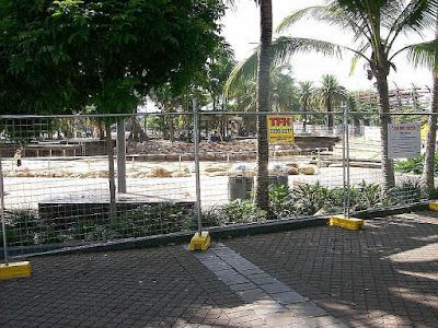 Brisbane - South Bank 2011 Zerstörungen durch Überschwemmung