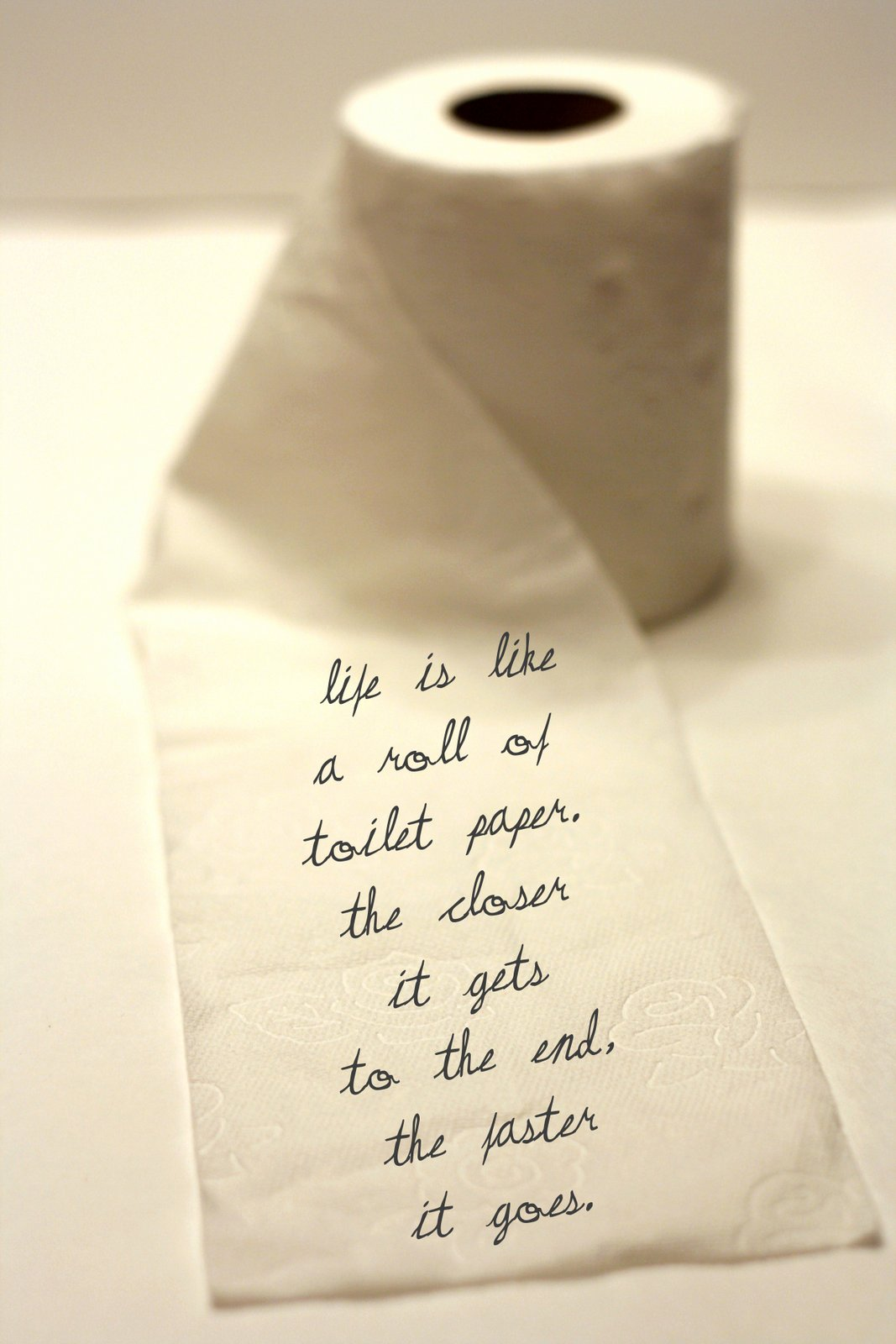 A 1000 Words Life Is Like A Roll Of Toilet Paper