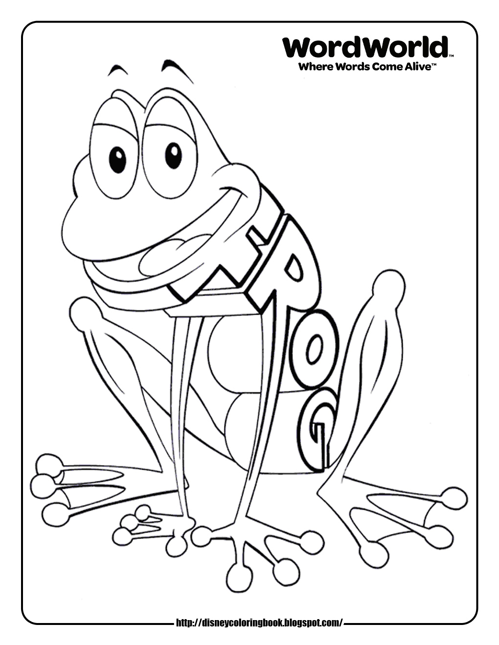 word world coloring pages # 7
