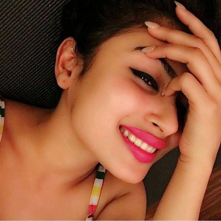 Mouni Roy hot sexy pink lips