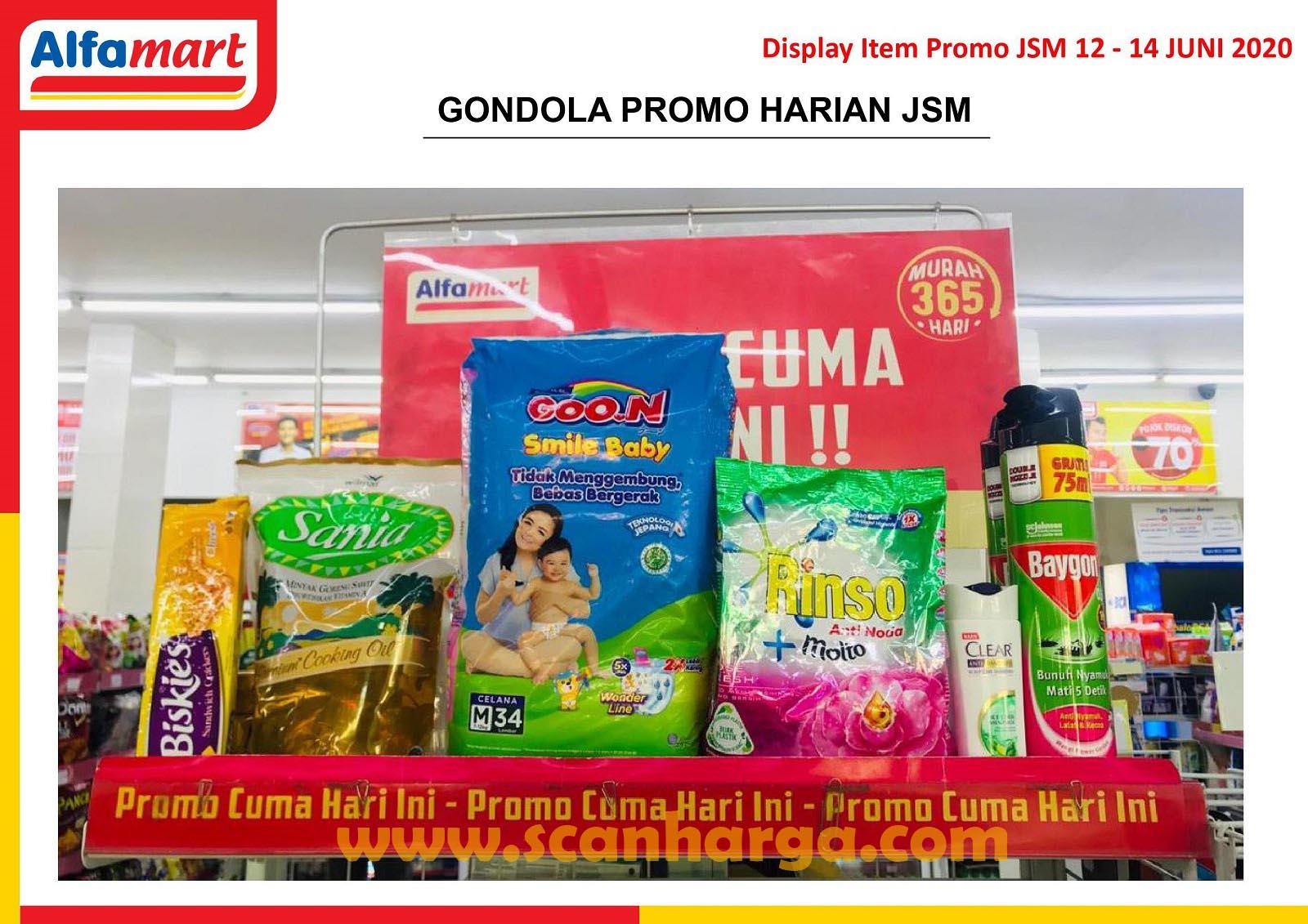 Display Gondola Item! Promo Harian JSM Alfamart 12 - 14 Juni 2020
