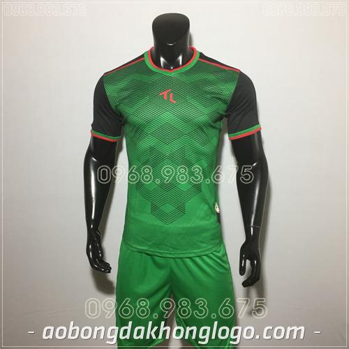 Áo bóng đá không logo TL Xabi  màu xanh lá