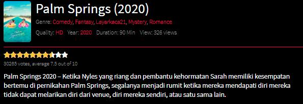Nonton Film Palm Springs (2020) Sub Indo Full Movie Terbaru 2021
