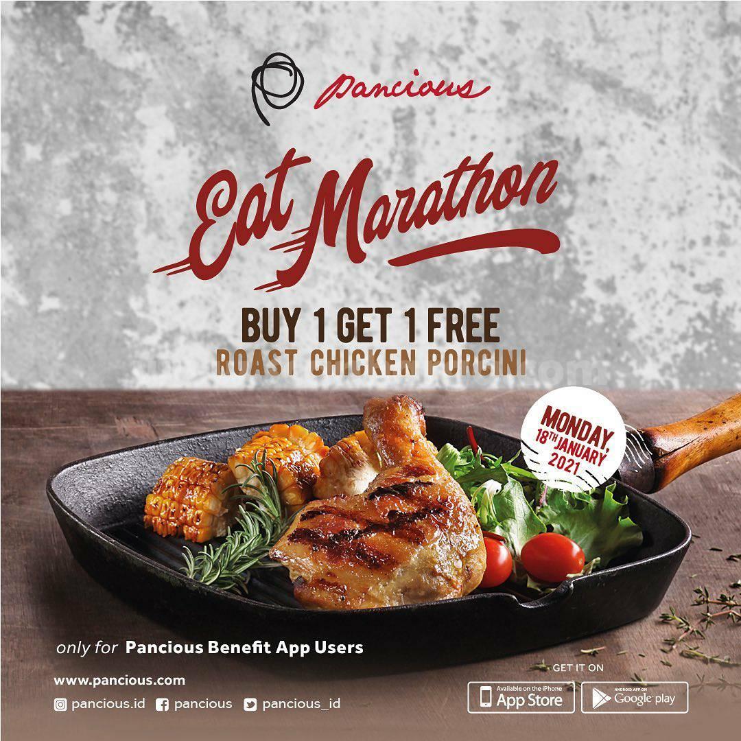 Pancious Eat Marathon – Buy 1 Get 1 Free for Menu Roast Chicken Porcini