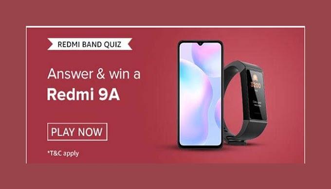 Amazon REDMI BAND Quiz Answers – Win Redmi 9A