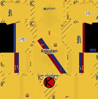 F.C. Barcelona 2019/2020 Nike Kit - Dream League Soccer Kits