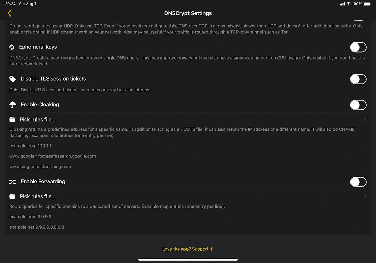 高度な設定(Advanced options)画面