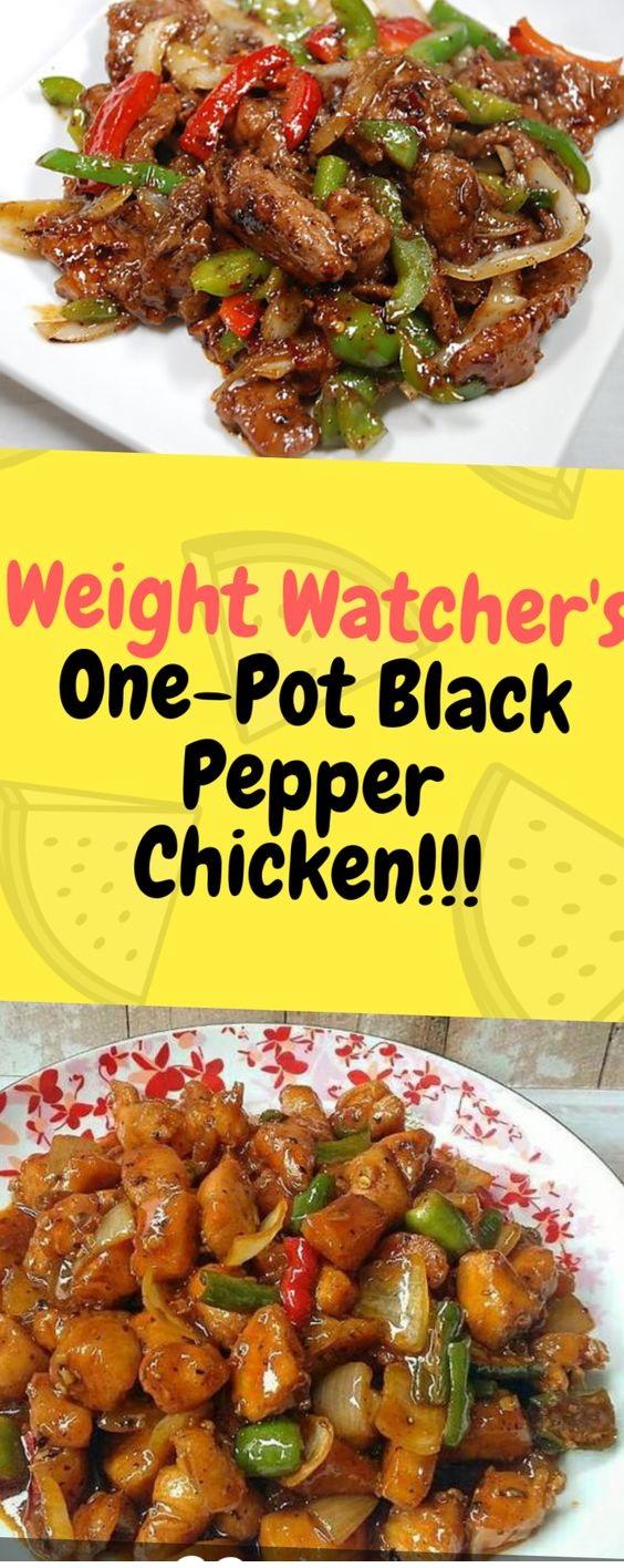 Weight Watcher's One-Pot Black Pepper Chicken