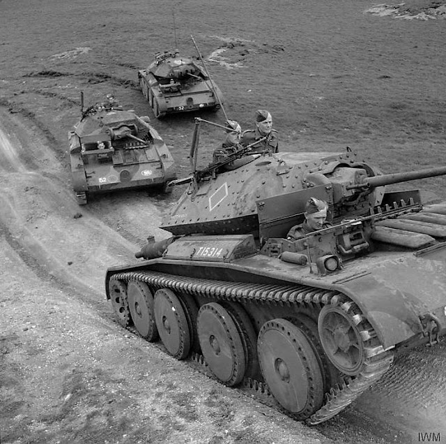 Cruiser Mk V Covenanter III tanks of British 9th Queen's Royal Lancers, 1 August 1941 worldwartwo.filminspector.com