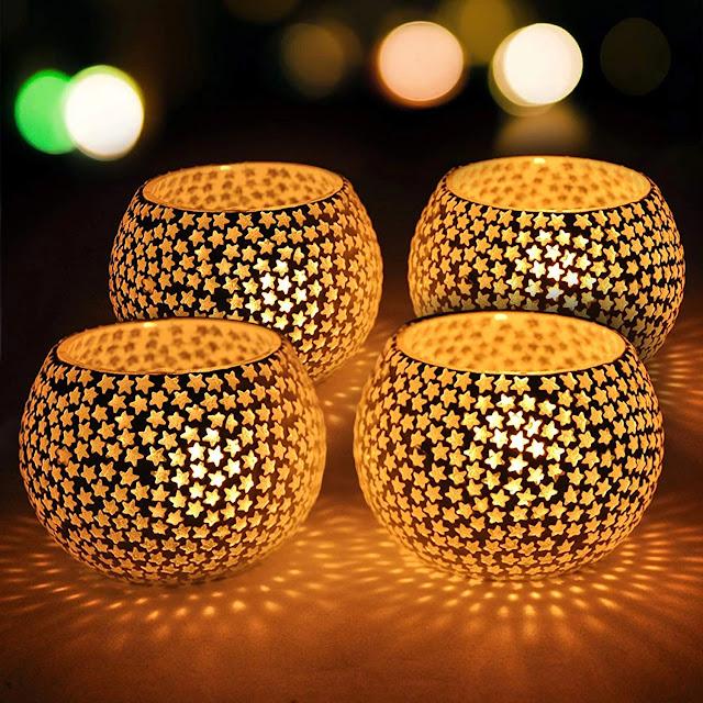 Captivating Crackled Glass Table Lamp  diwali gift