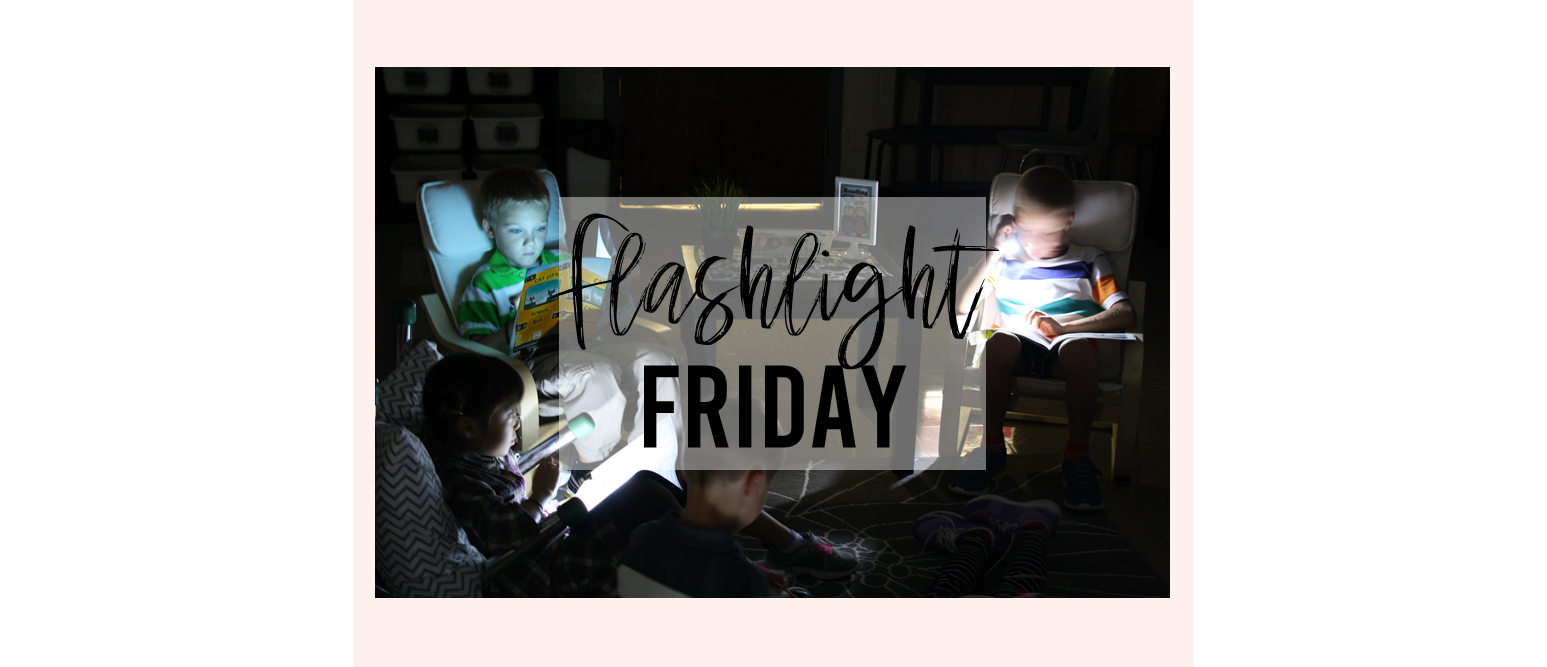 Students read to self in the dark using flashlights every Friday...flashlight Friday!