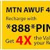 MTN Awuf4u  200% and 300% Recharge Bonus offer